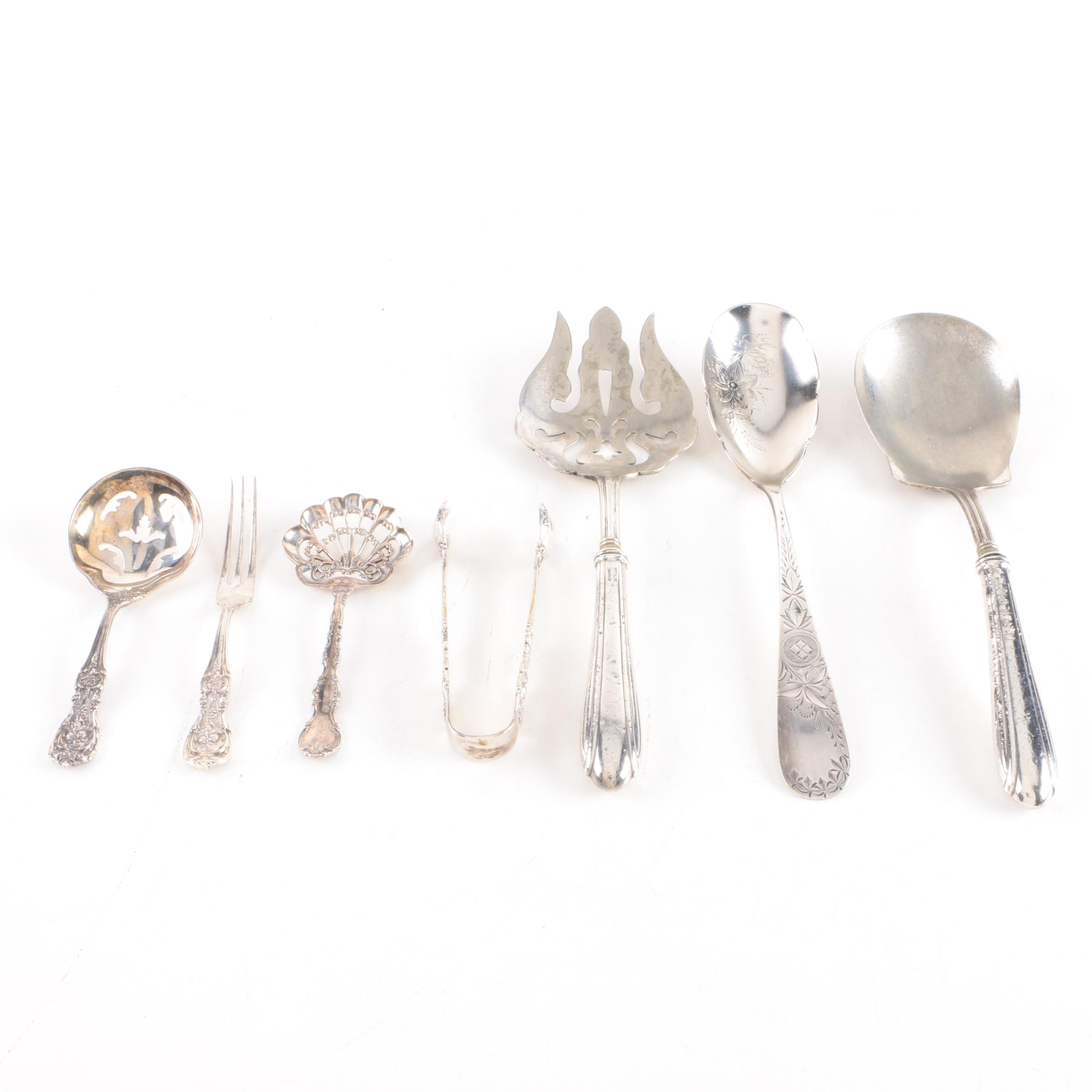 """Reed & Barton """"Francis I"""" Sterling Silver Tongs and Assorted Sterling Utensils"""