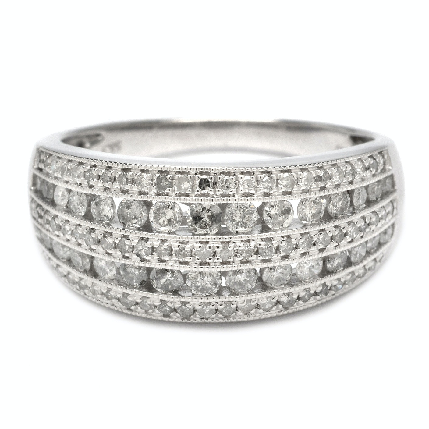 Sterling Silver and Diamond Ring Band