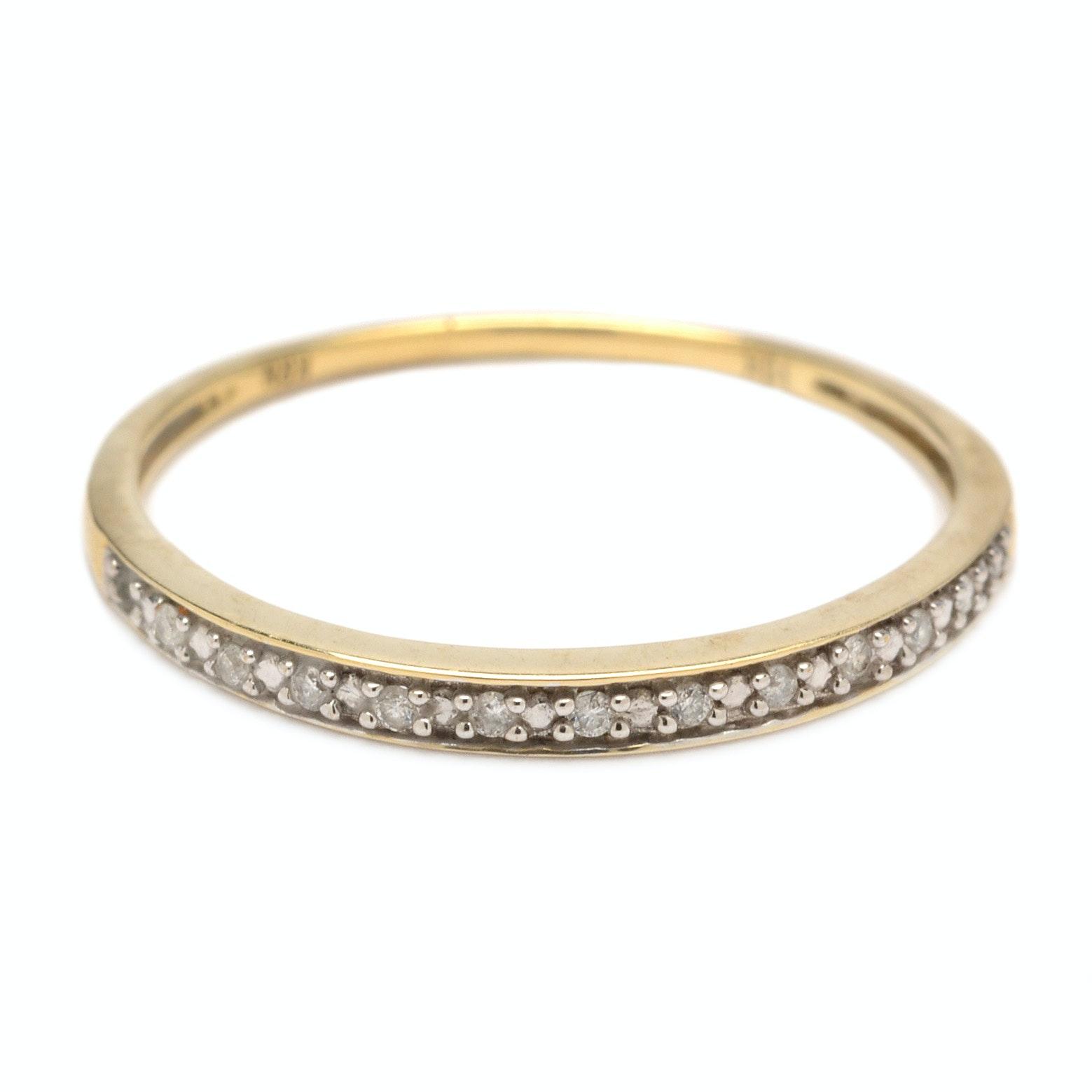 10K Yellow Gold Diamond Ring Band