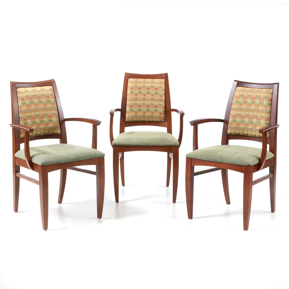 Contemporary Upholstered Dining Chairs by Loewenstein