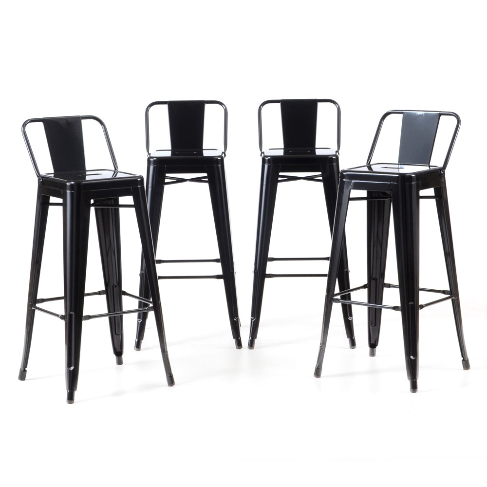 Industrial Style Metal Bar Stools