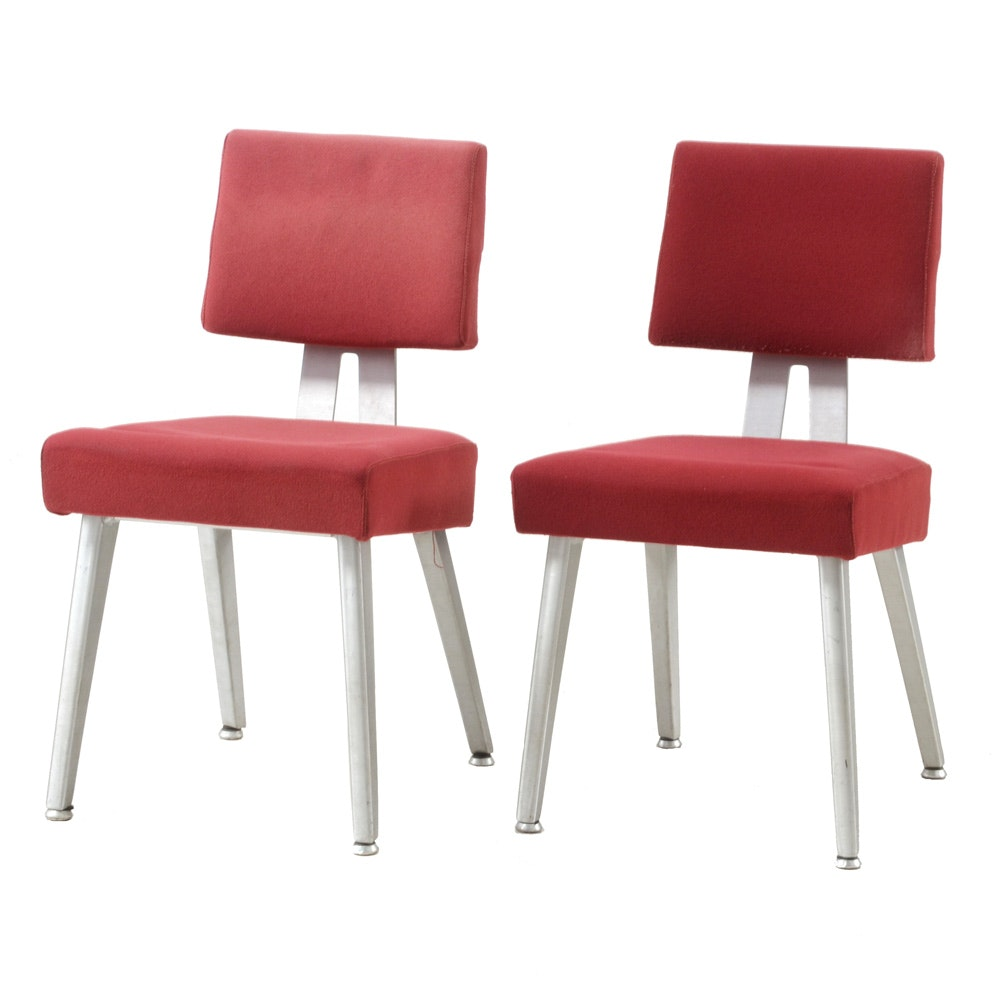 Mid Century Modern Aluminum Side Chairs by Good Form
