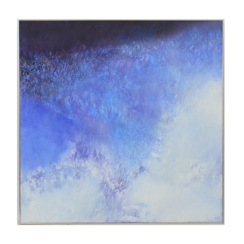 "Thomas George Large Format Abstract Painting ""Horizon"""