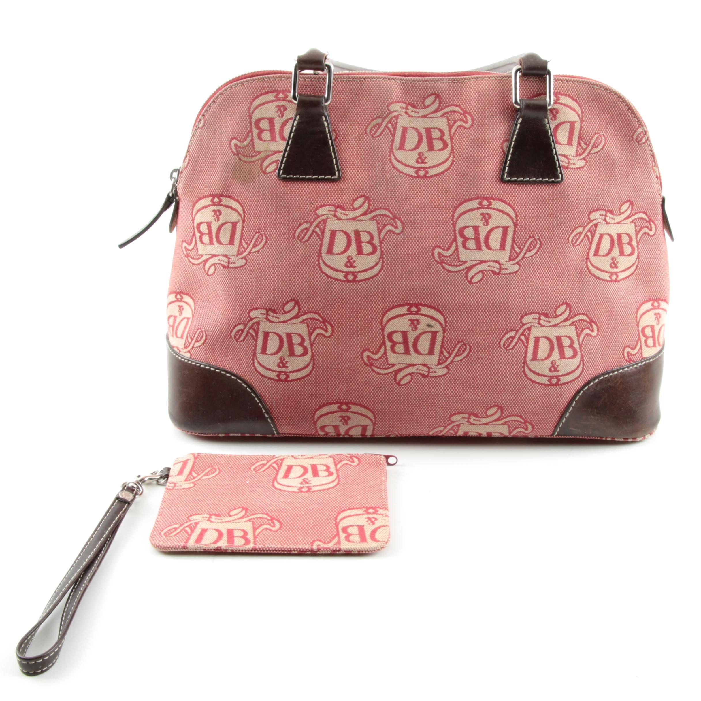 Dooney & Bourke Jacquard Bag with Matching Wristlet