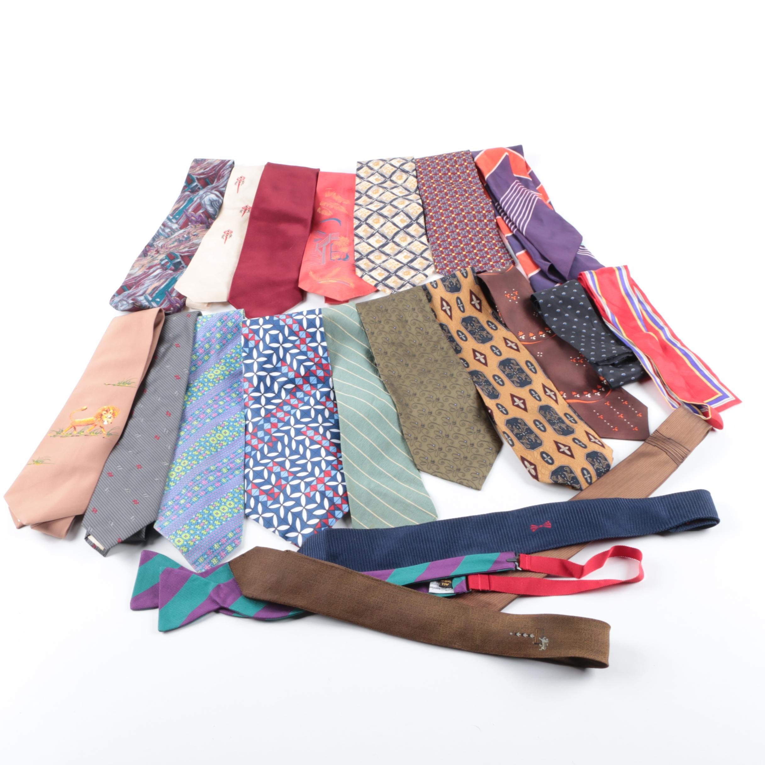 Men's Neckties Including Pierre Cardin, Wembley, and Joseph Abboud
