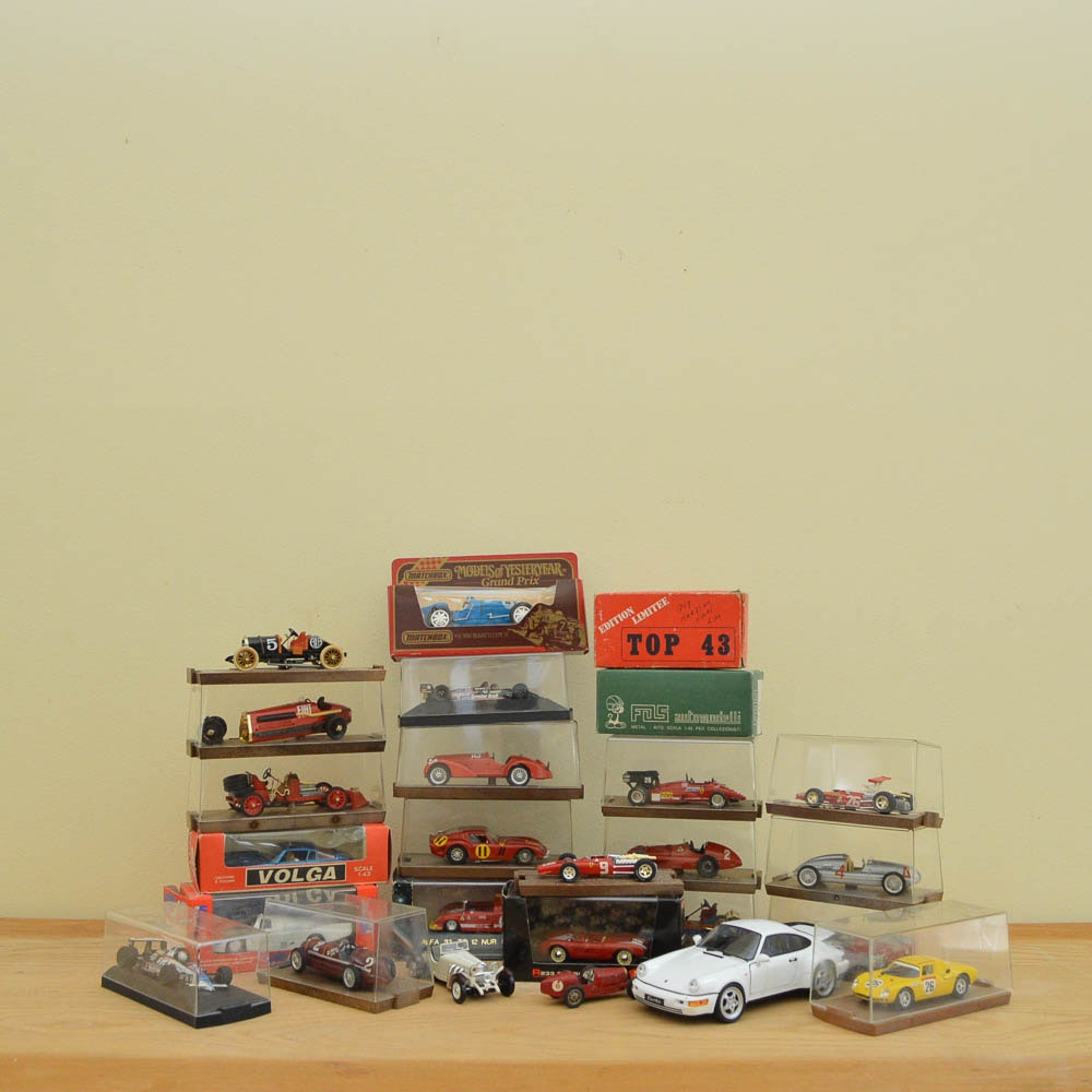 Die-Cast Cars and Model Kits Including Models of Yesteryear