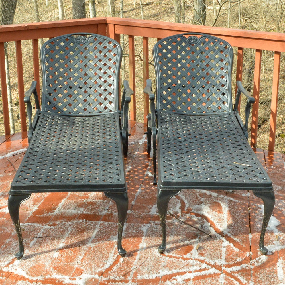 Metal Patio Loungers