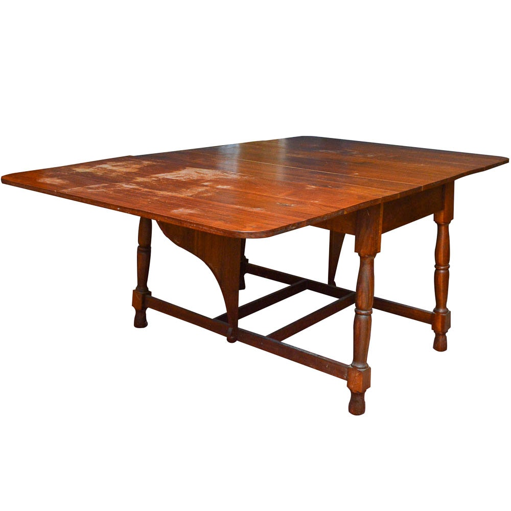 Solid Walnut Drop-Leaf Dining Table