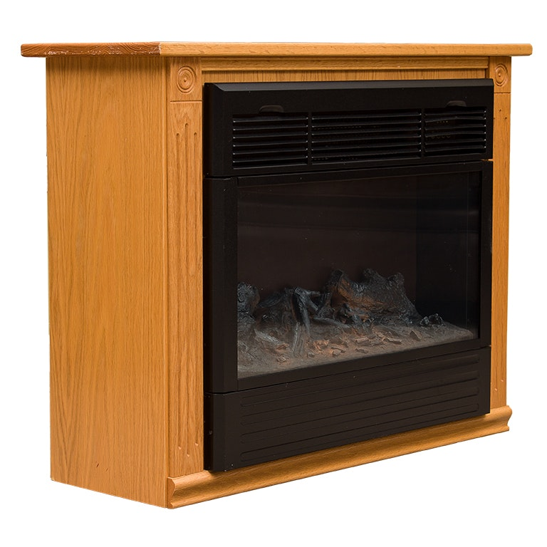 Heat Surge Fireless Infinity Flame Heater with Amish Carpentry Mantel