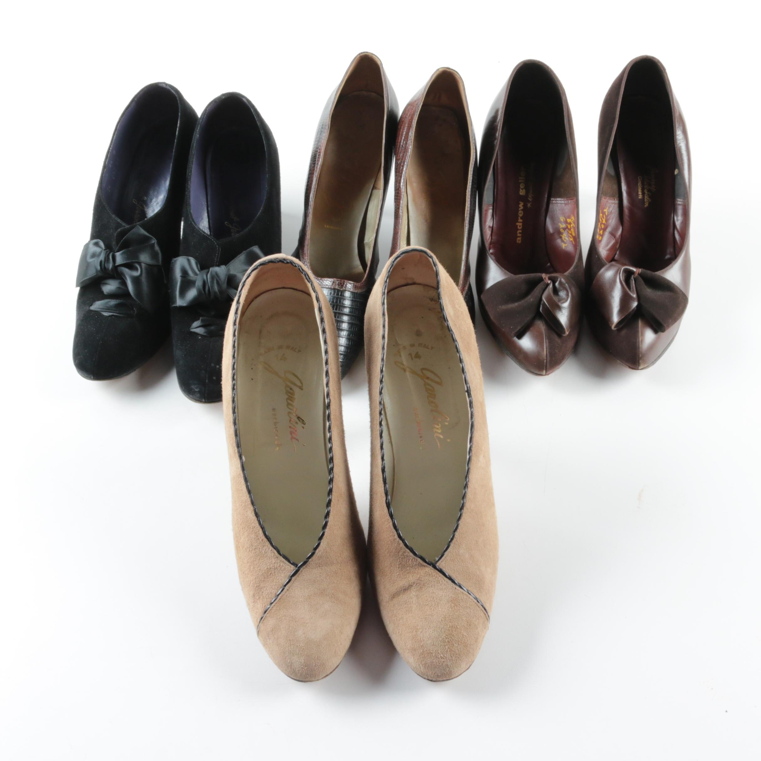 Circa 1950s Vintage High Heel Pumps Including Margaret Jerrold