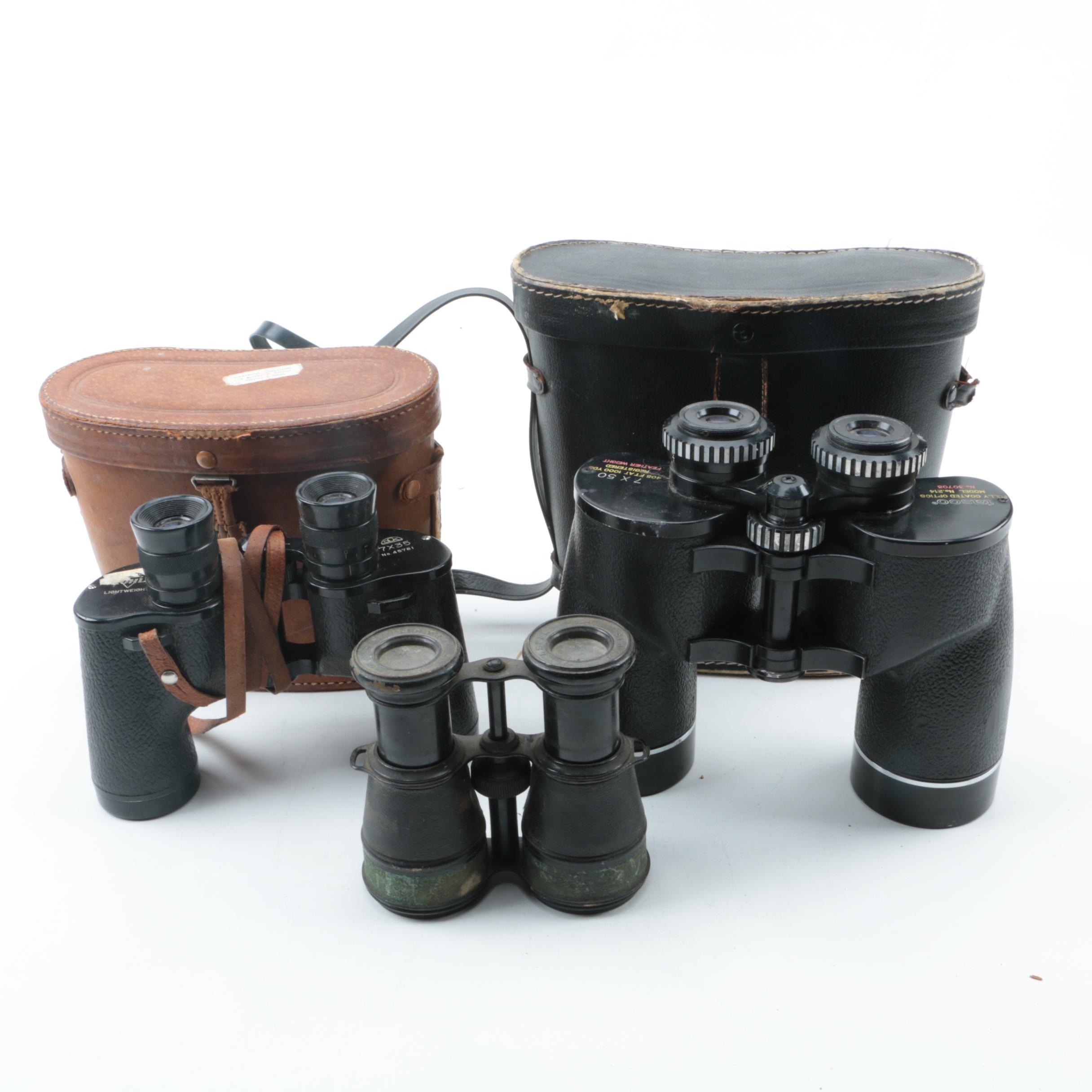 Vintage Binocular Assortment Including Lemaire
