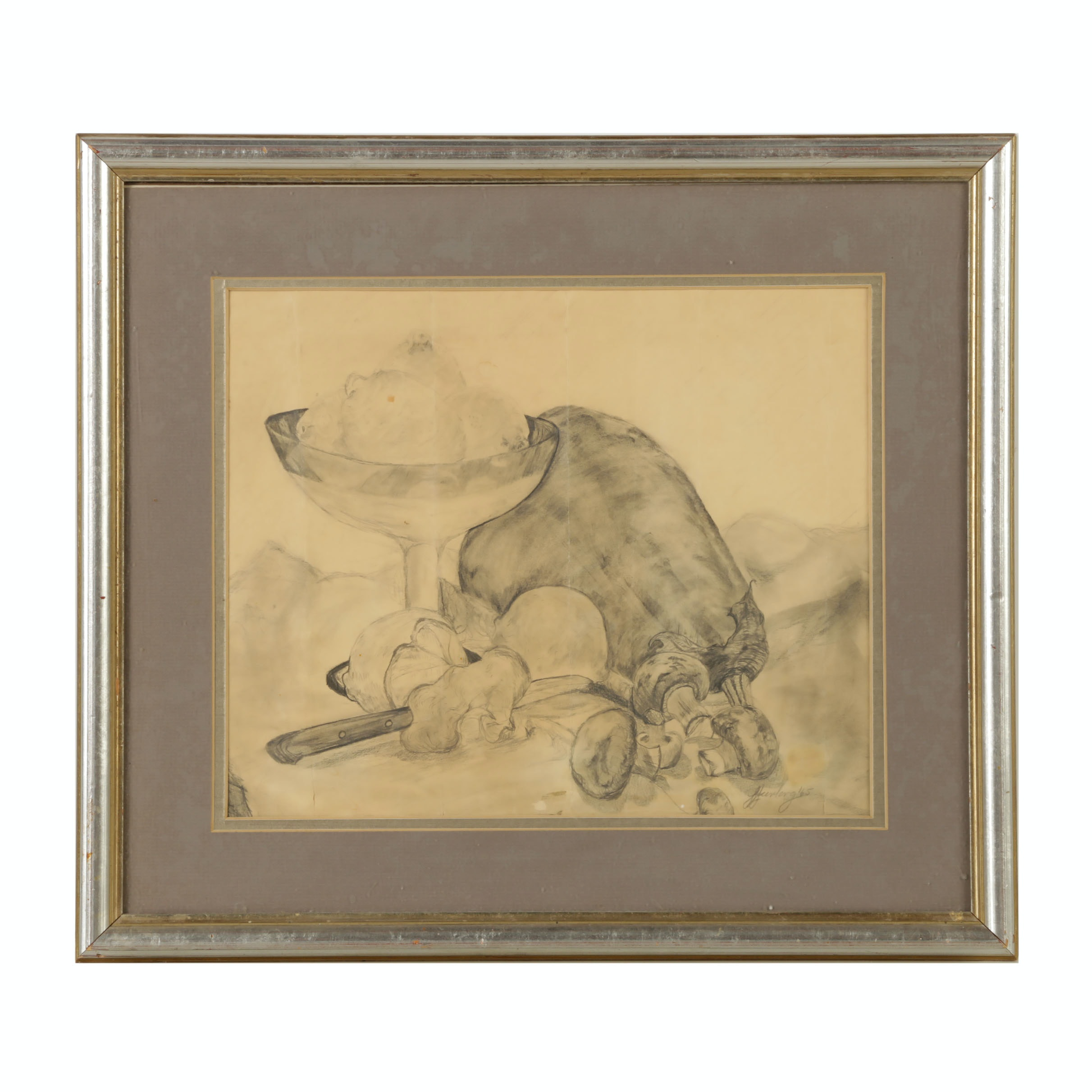 "Laura Furlong Graphite Drawing ""The Night I Bought Mushrooms"""