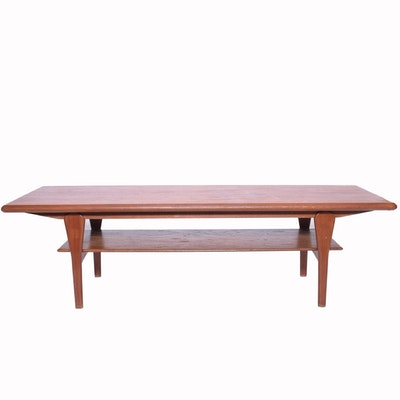 Vintage Danish Modern Teak Coffee Table by Marsk Mobler