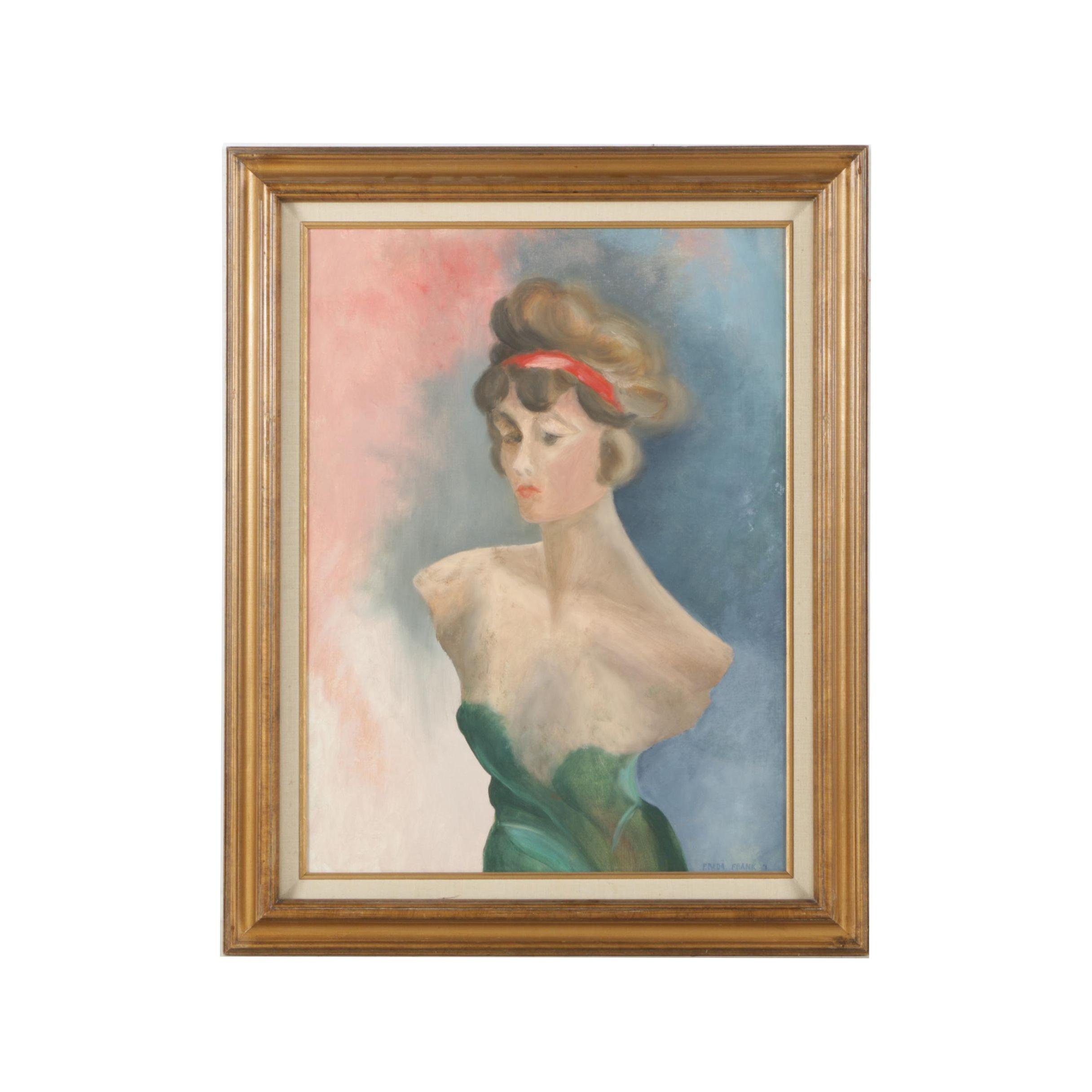 1971 Freda Frank Oil Painting