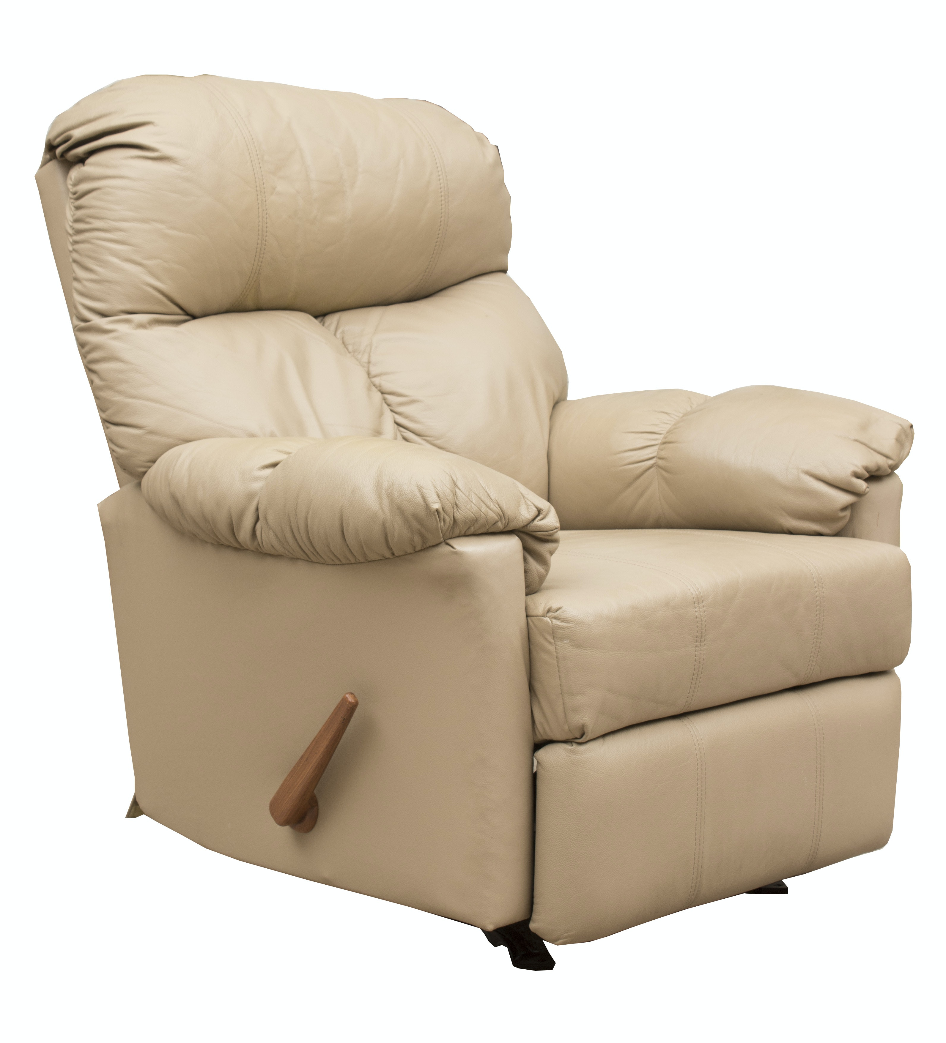 Plush Leather Recliner