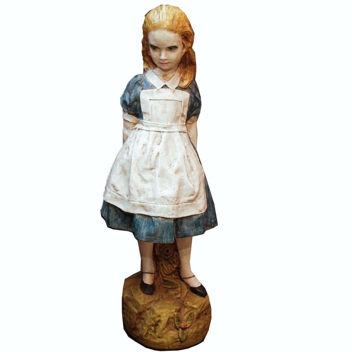 """Alice in Wonderland"" Resin Sculpture"