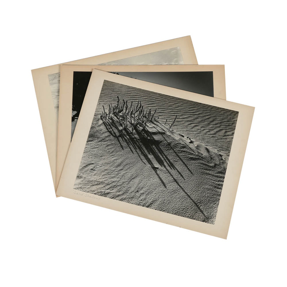 """Three Don Dover Black and White Photographs Including """"Sand Shadows"""""""