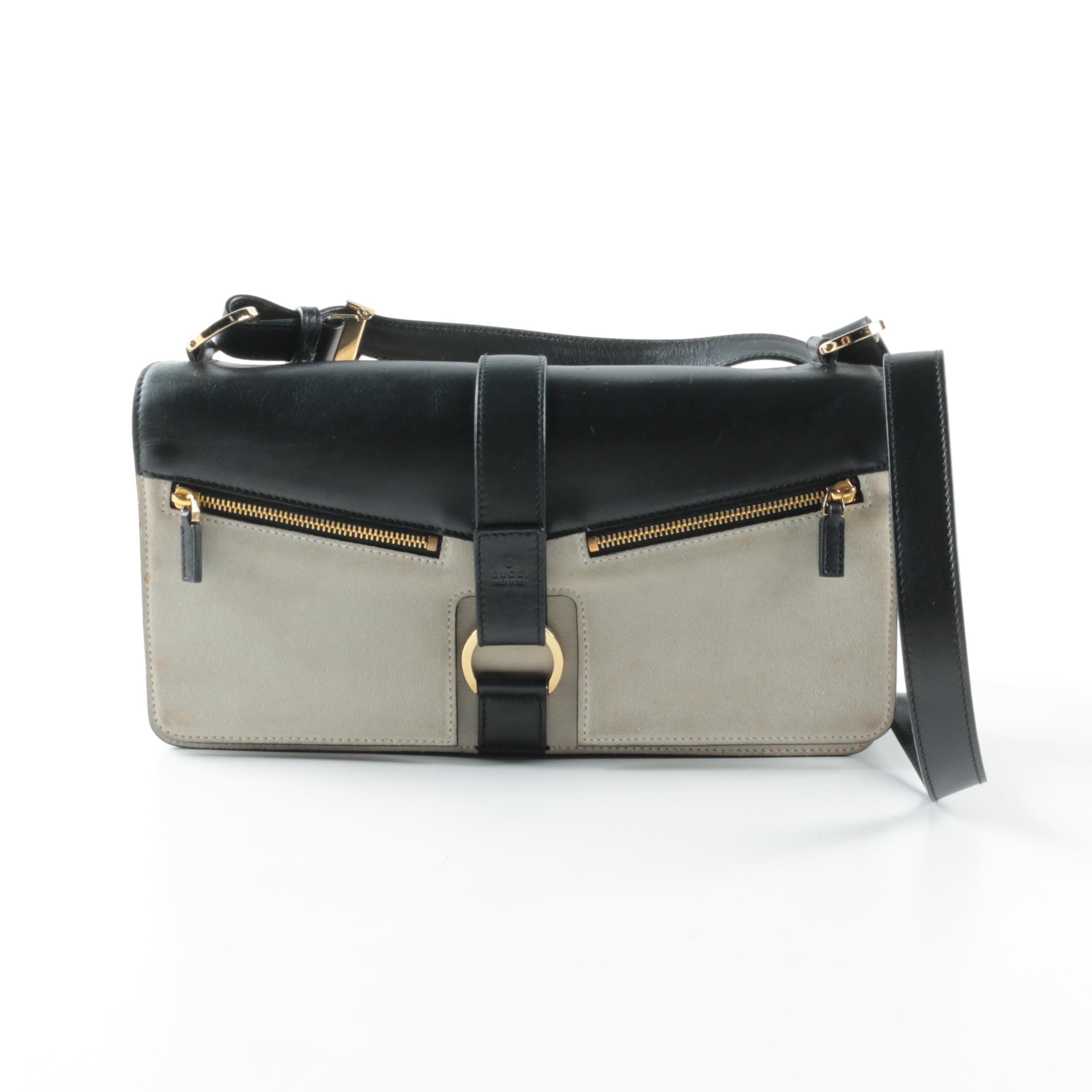 Gucci Flap Front Leather Shoulder Bag