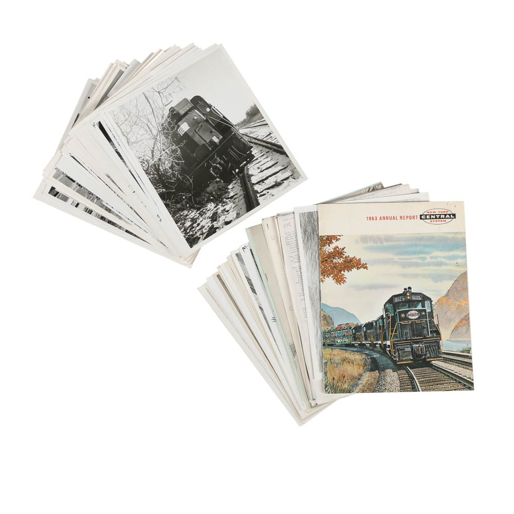Vintage Railroad Photographs and Ephemera