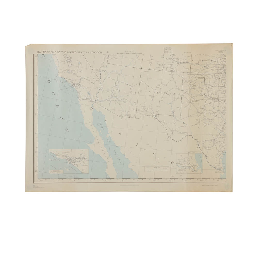 Railroad Map of the Southwestern United States