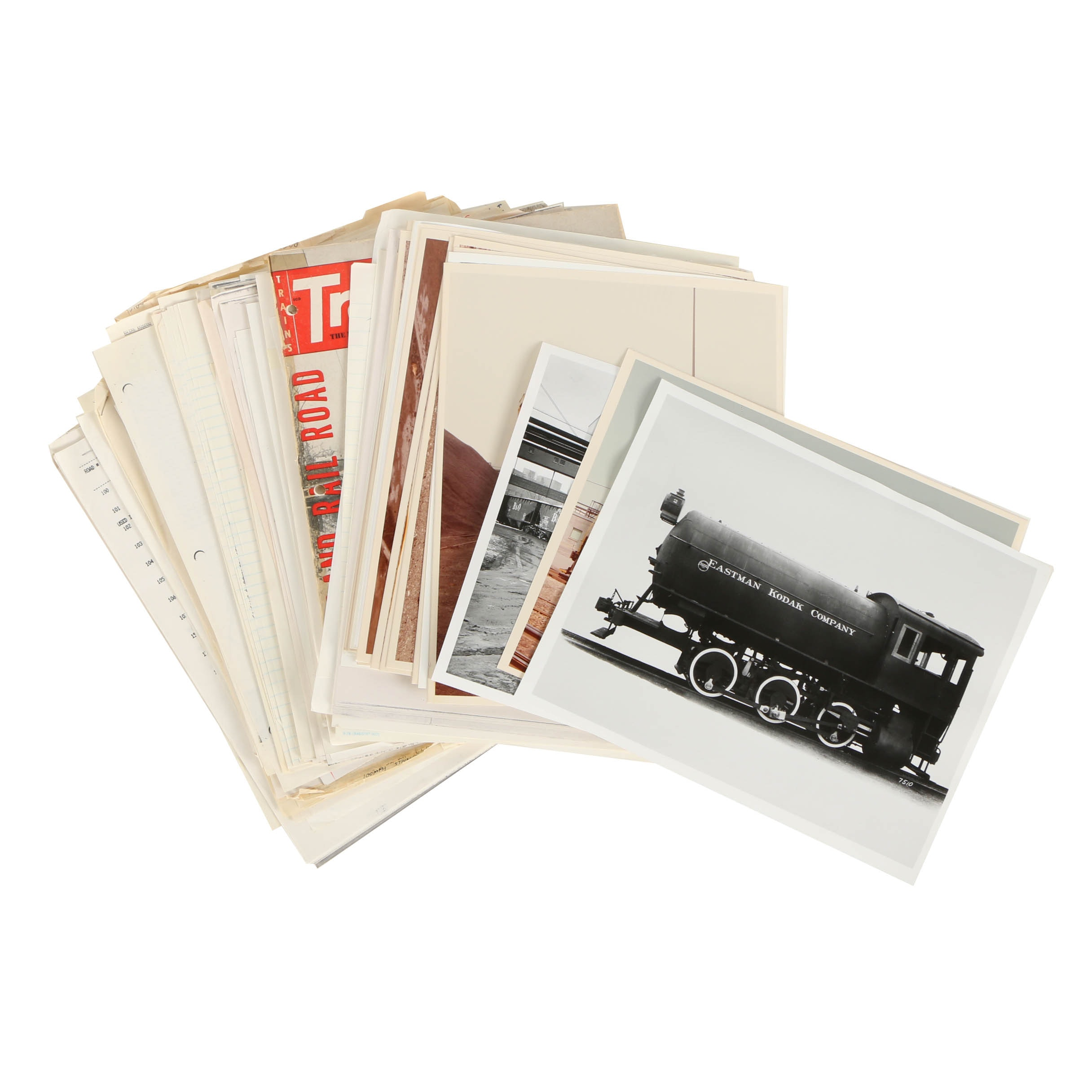 Collection of 20th Century Train Photographs and Pamphlets