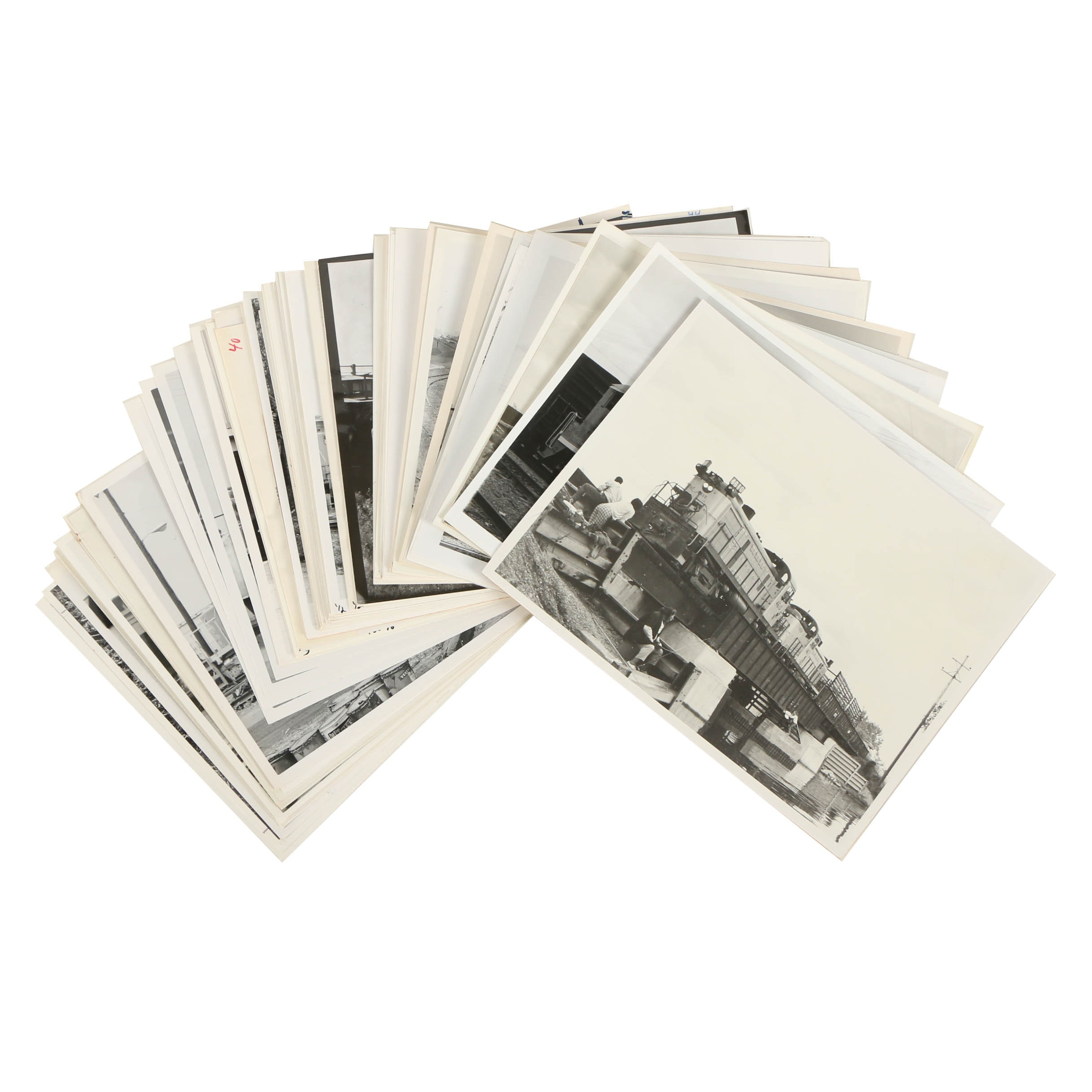 Collection of 20th Century Black and White Photographs of Trains
