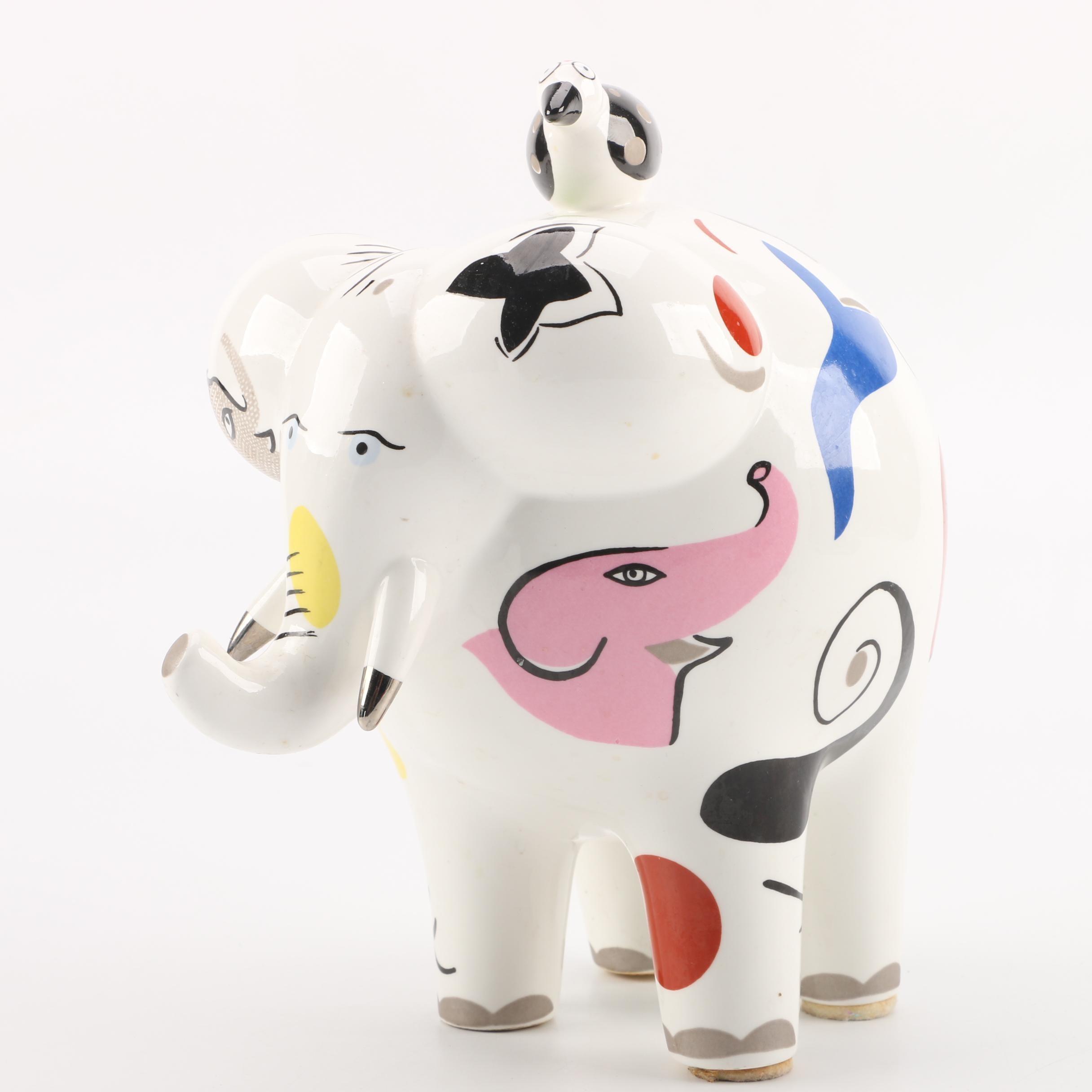 Villeroy and Boch France Animal Park Elephant and Bird Figurine