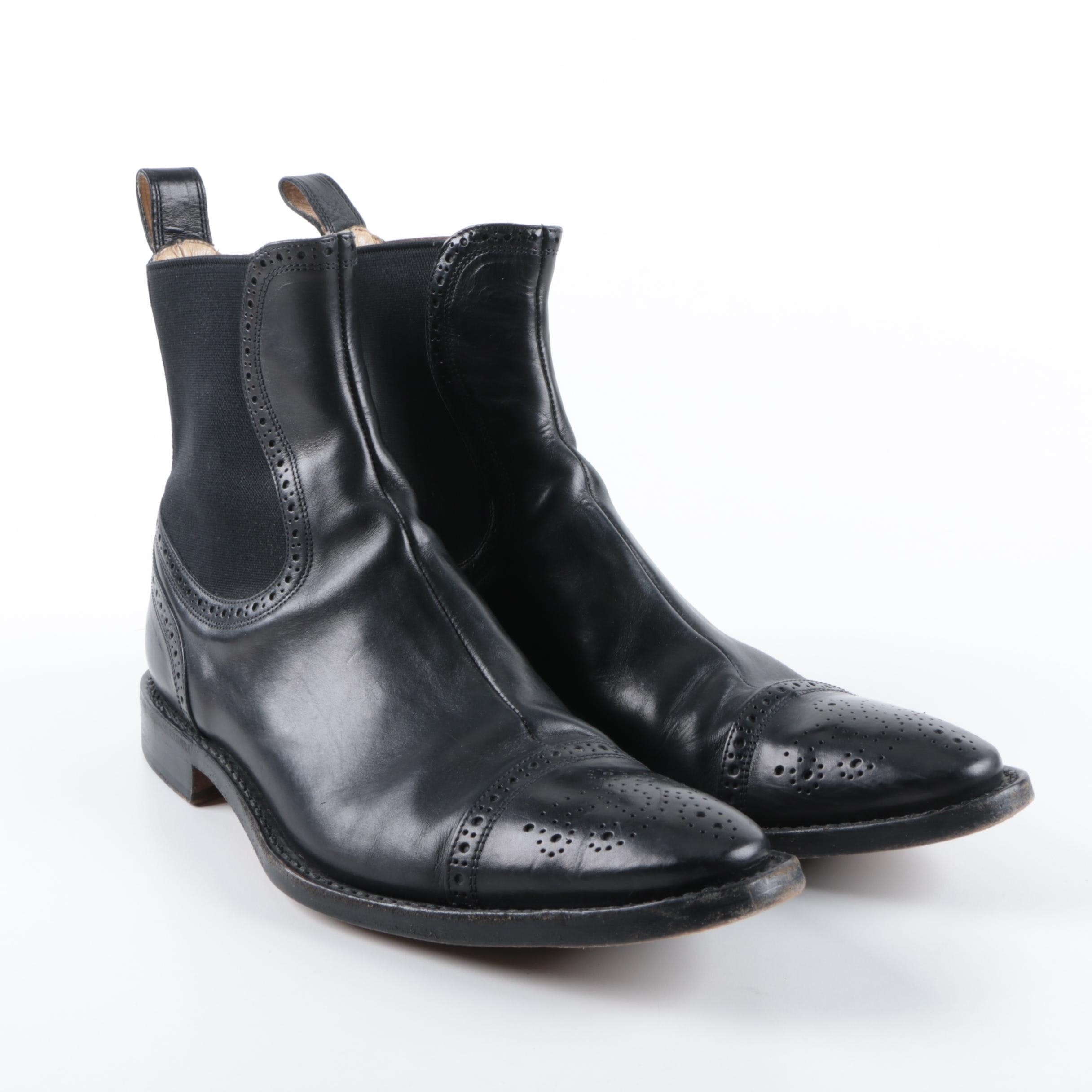 Men's Dolce & Gabbana Black Leather Boots