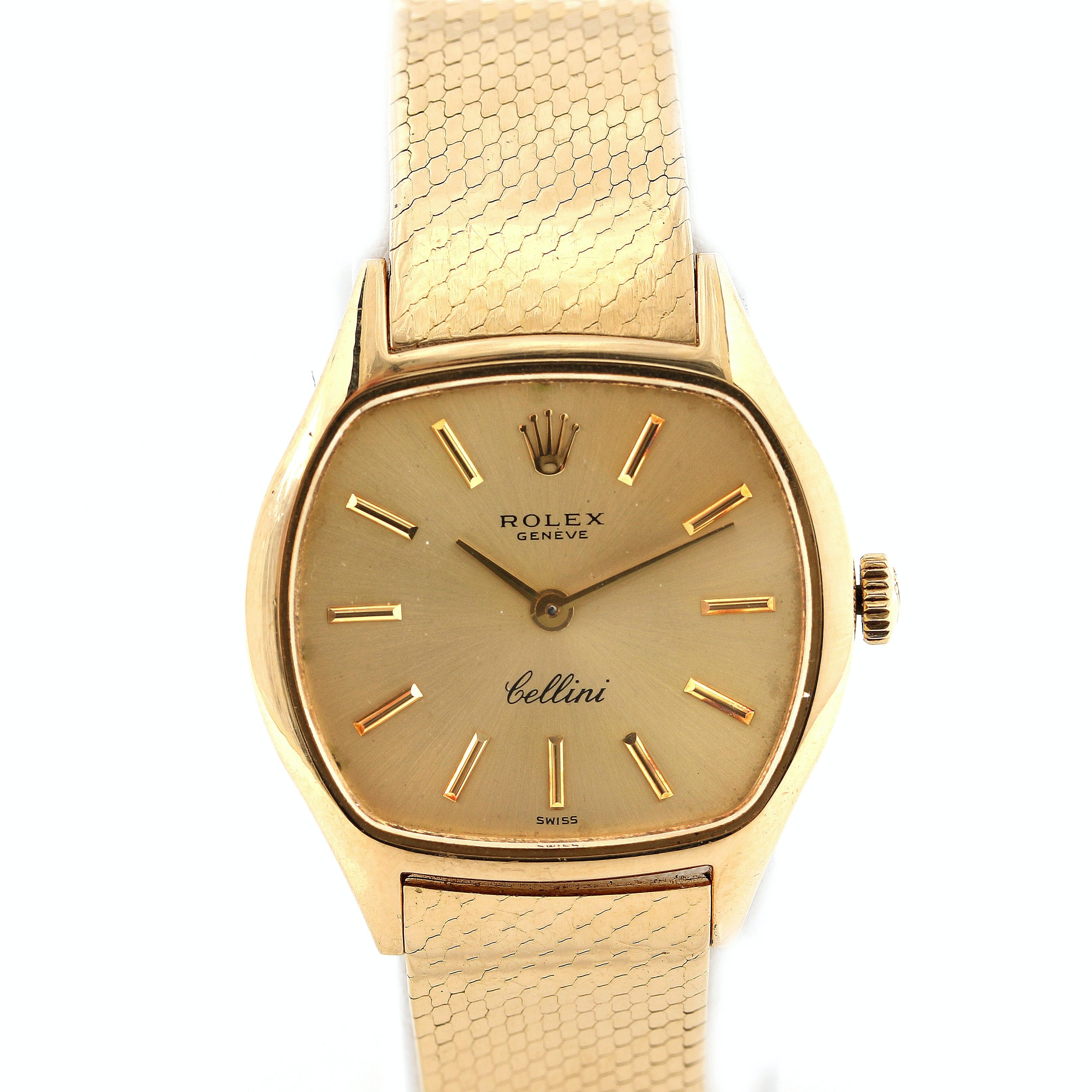 Rolex 18K Yellow Gold Cellini Wristwatch