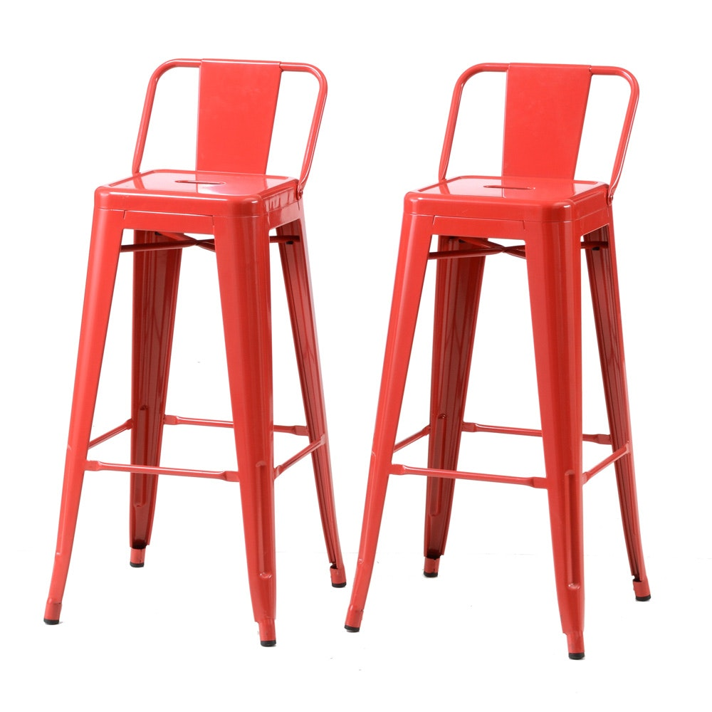 Set of Two Industrial Style Bar Stools