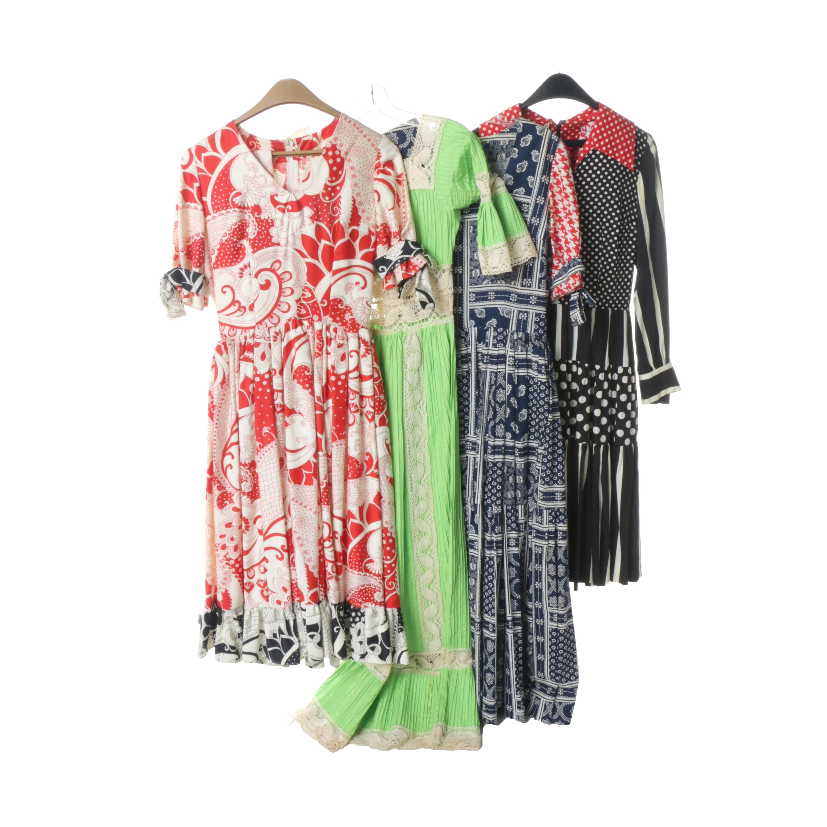 Women's 1970s Vintage Dresses Including I. Magnin & Co.
