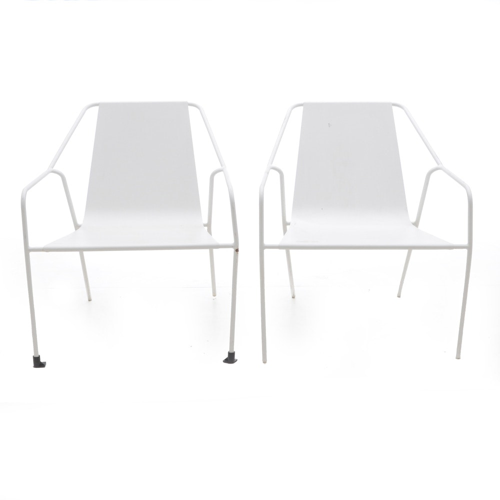 Mid Century Modern Style Metal Patio Chairs