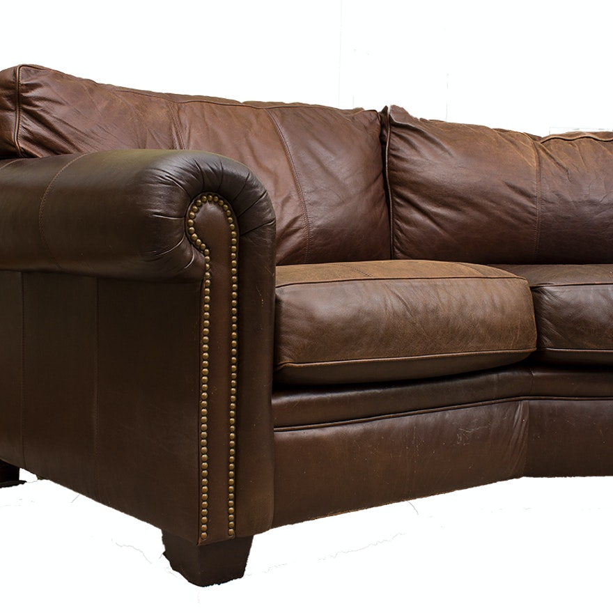 Bernhardt Leather Sectional Sofa Ebth