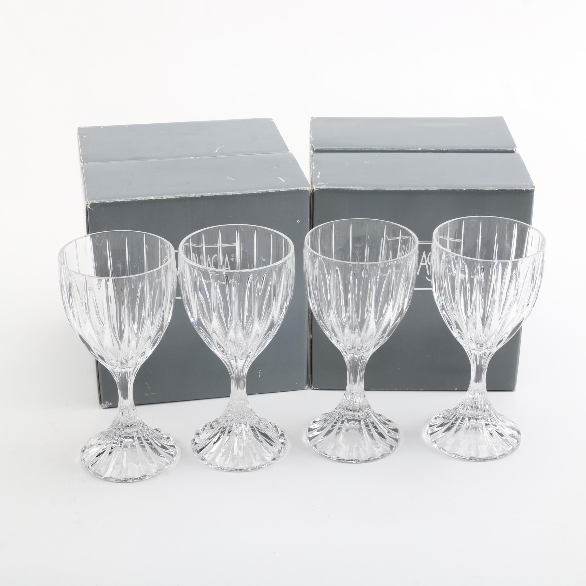 "Mikasa ""Park Lane"" Wine Glasses"