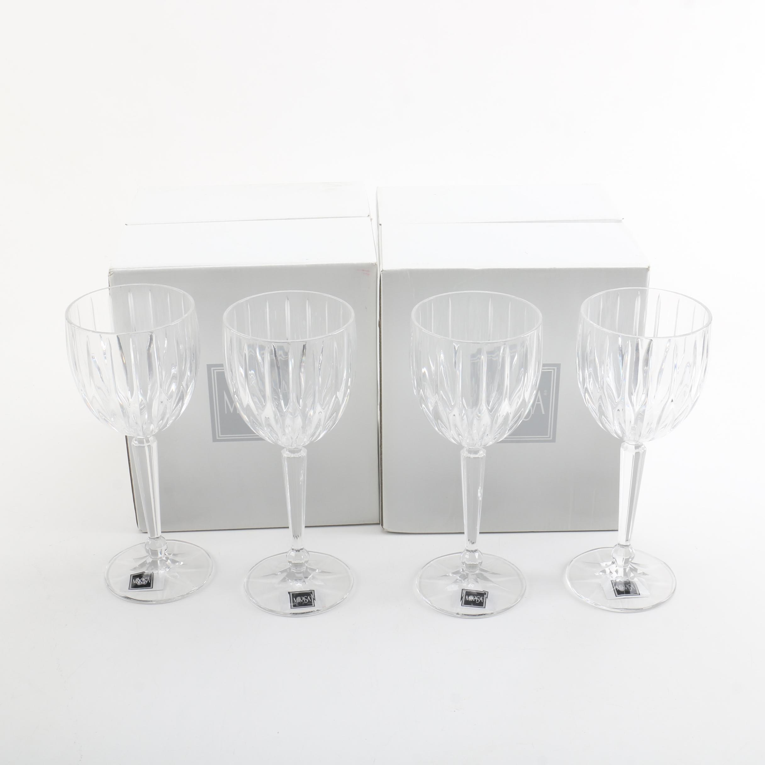 "Mikasa ""Lexington Avenue"" Wine Glasses"