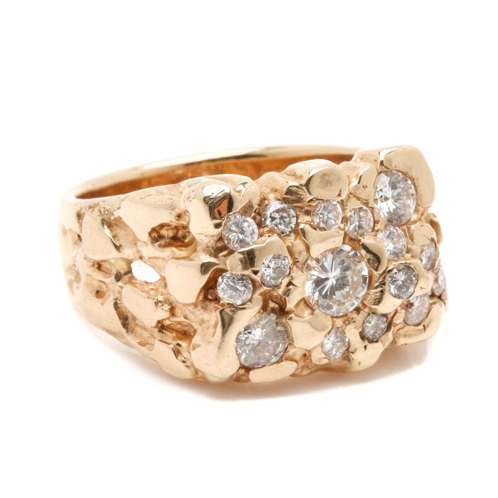 14K Yellow Gold 2.35 CTW Diamond Ring