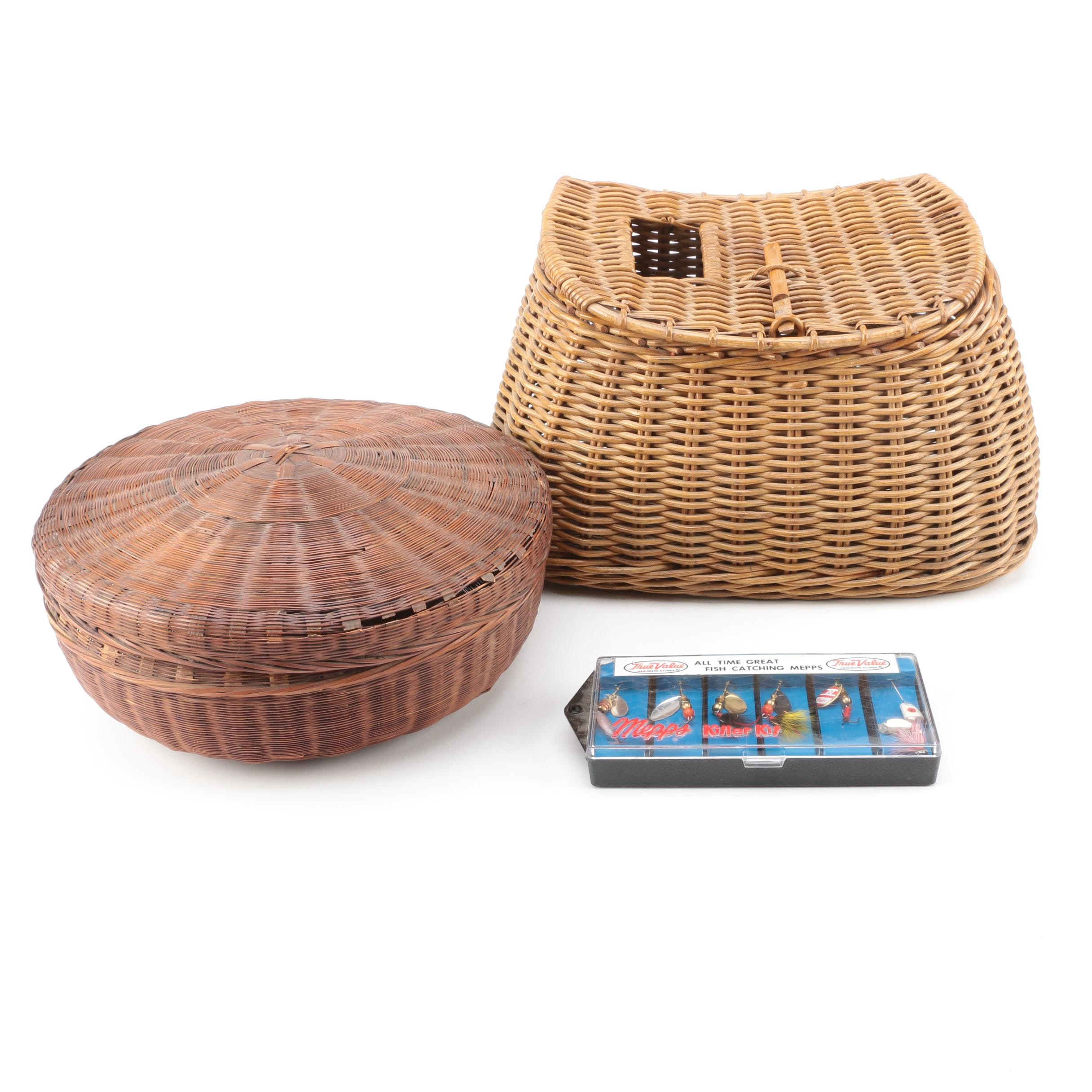 Wicker Tackle Boxes and Lures