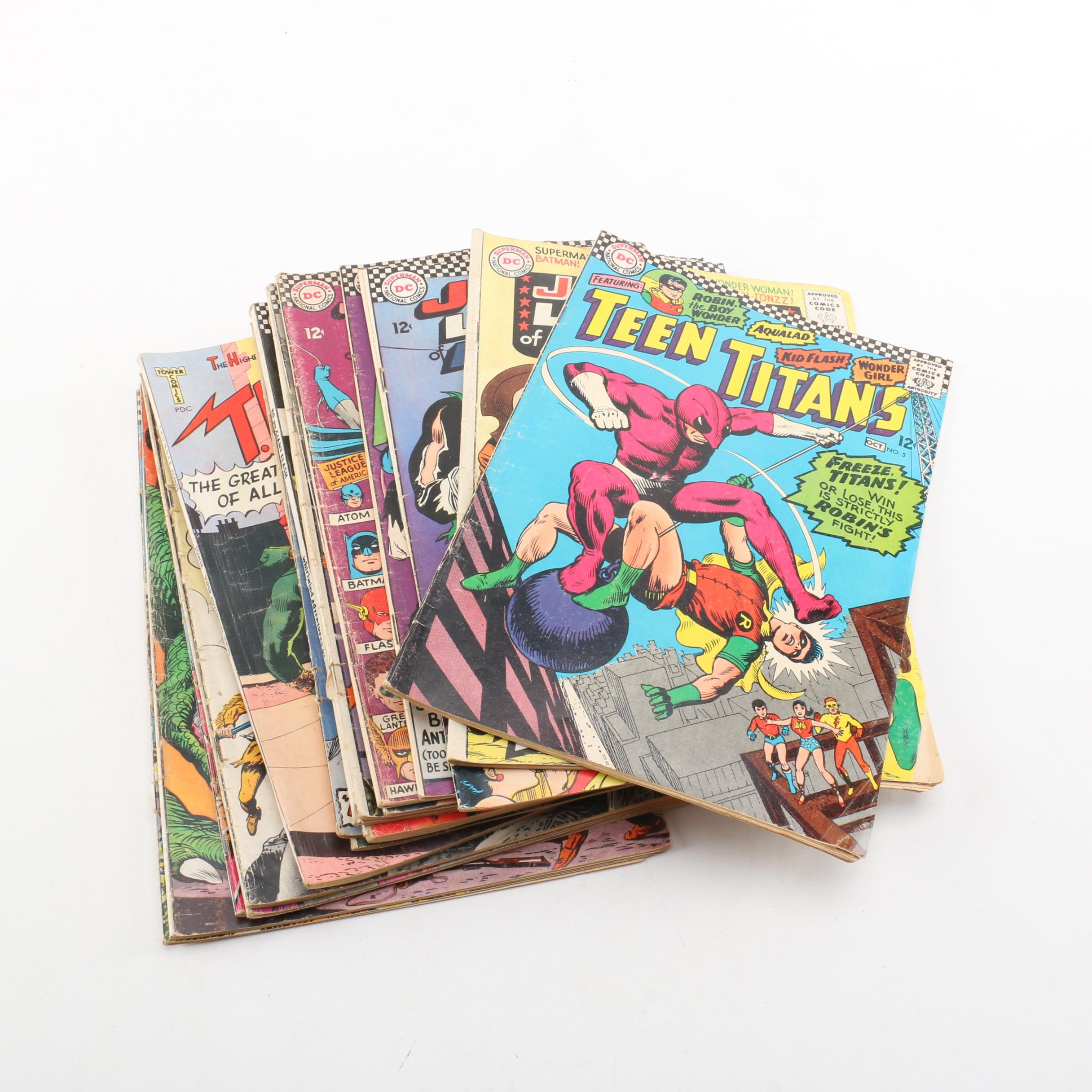 "Silver Age DC Comic Books Including ""The Flash"" and ""Justice League of America"""