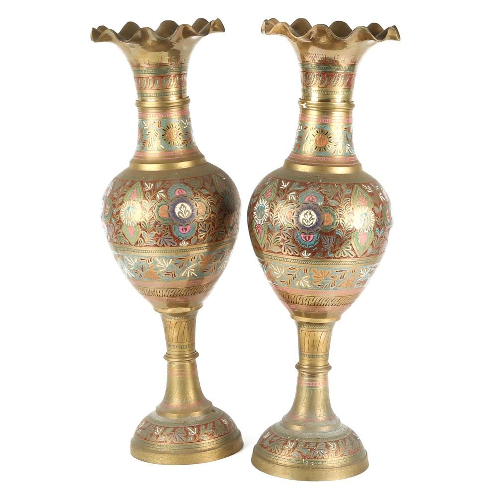 Indian Brass Urns