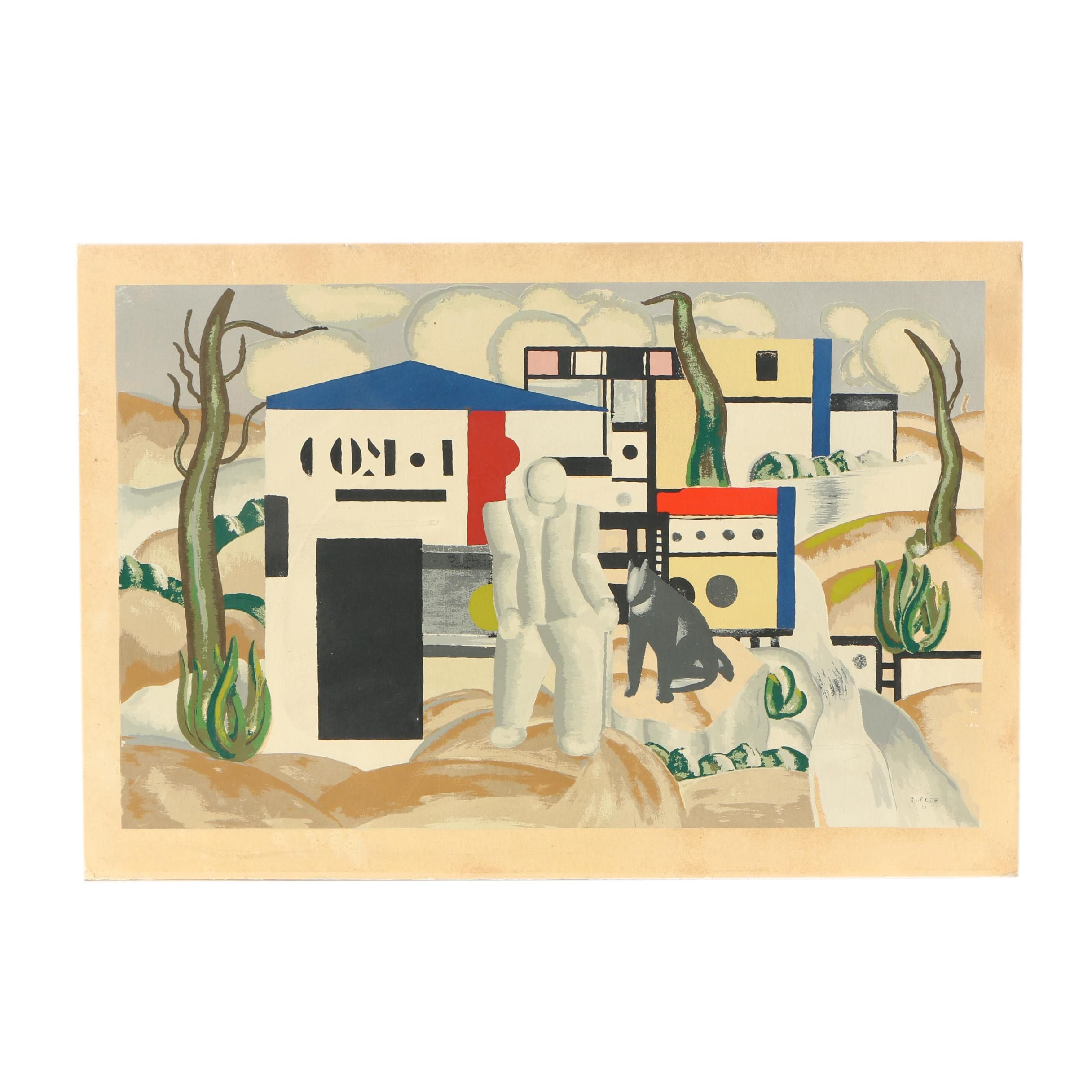 Serigraph After Fernand Léger