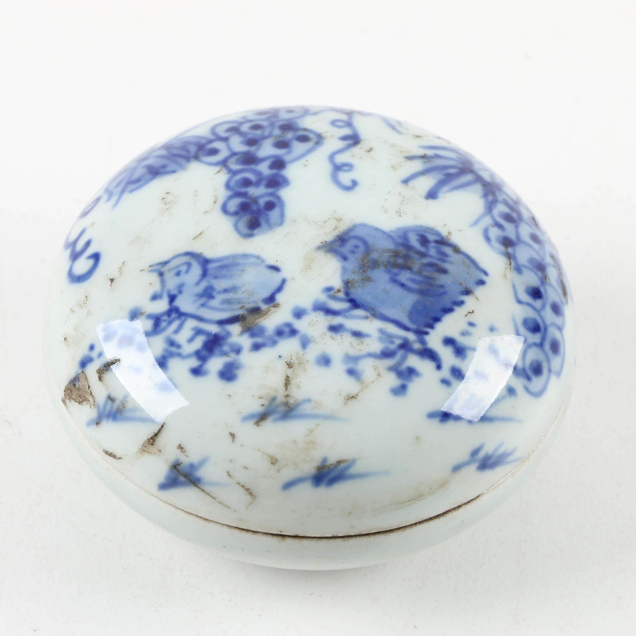 Chinese Blue and White Ceramic Trinket Box