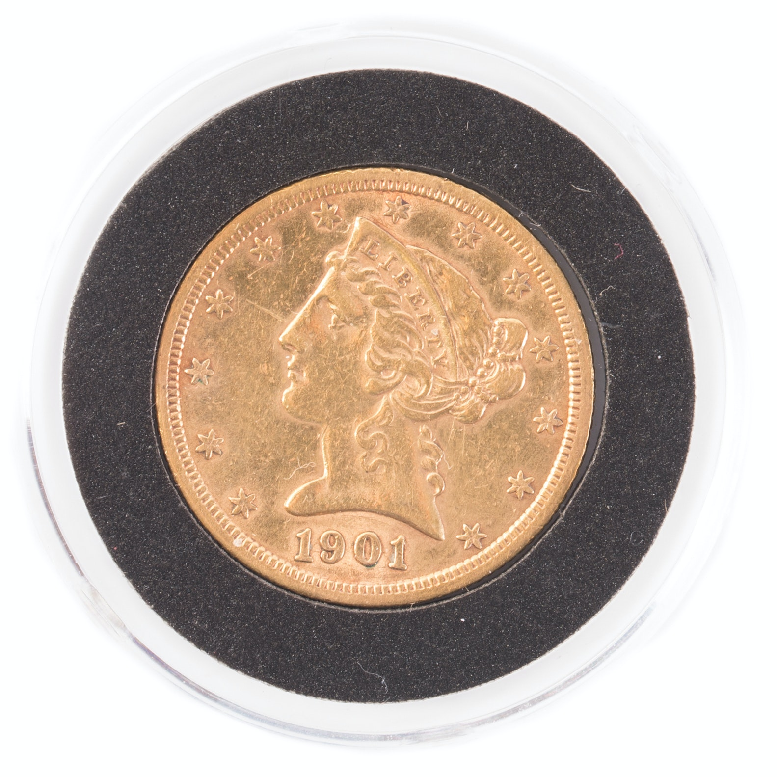 1901 S Liberty Head $5 Gold Coin