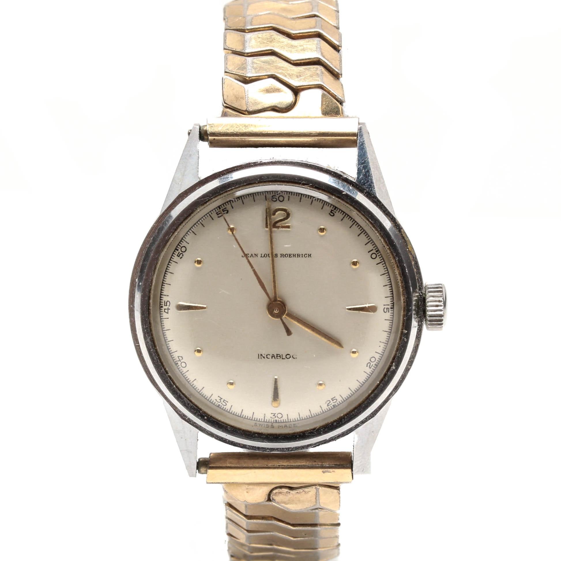 Vintage Jean Louis Roehrich Incabloc Wristwatch