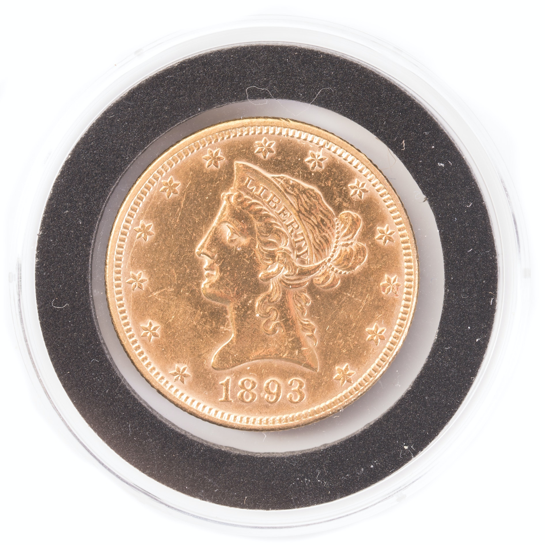 1893 Liberty Head $10 Gold Coin