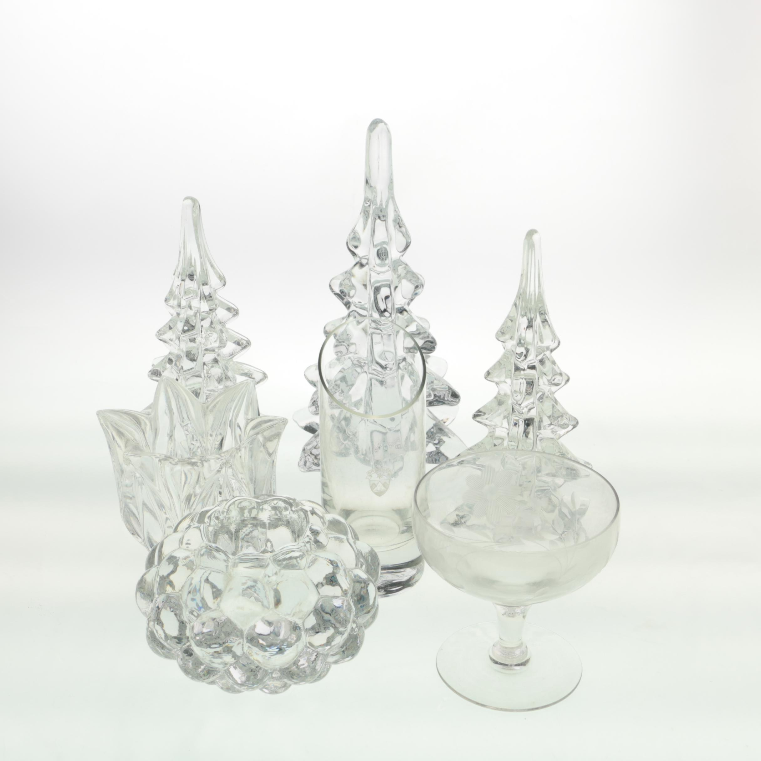Decorative Glassware Including Waterford Crystal