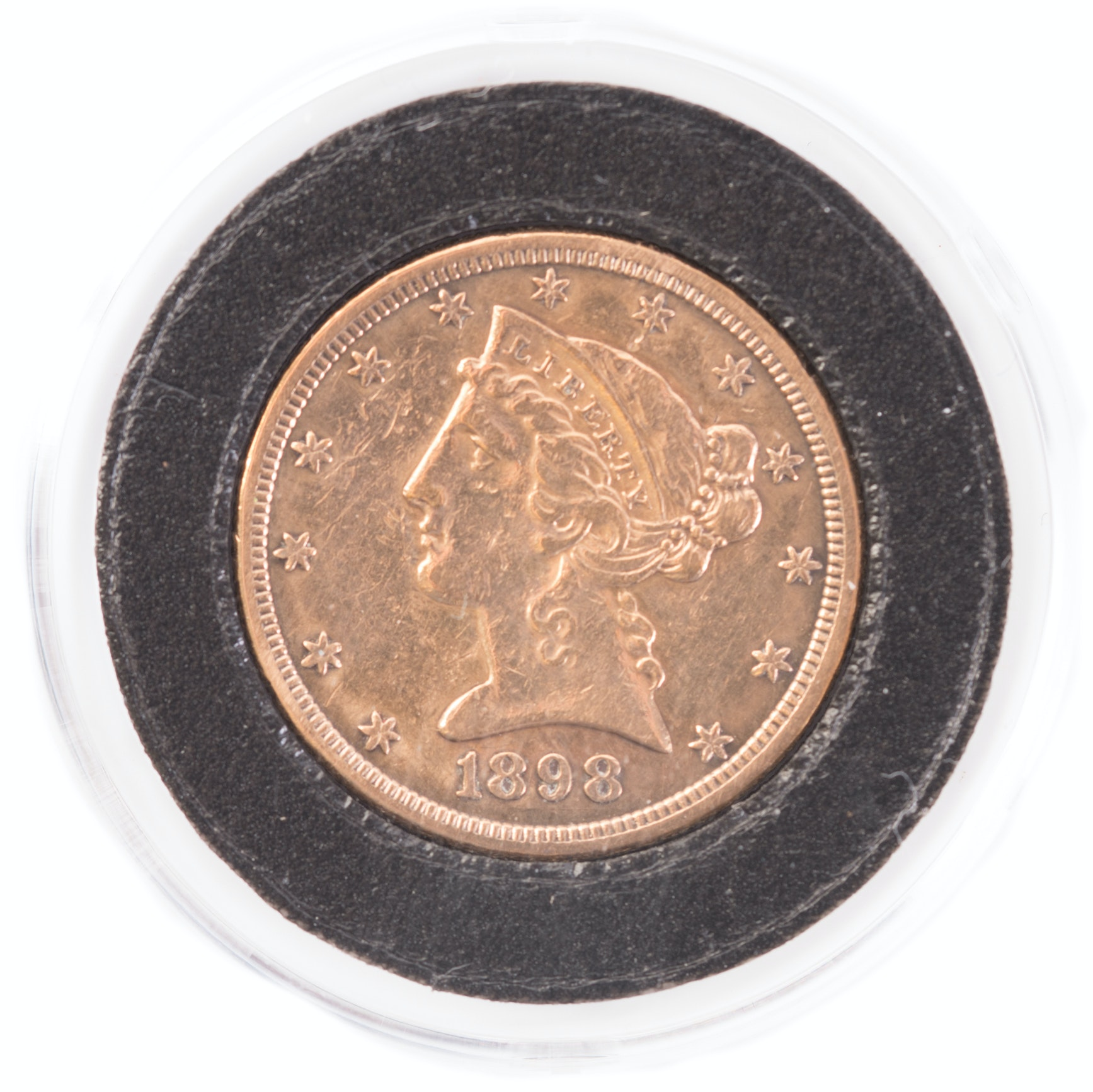 1898 S Liberty Head $5 Gold Coin
