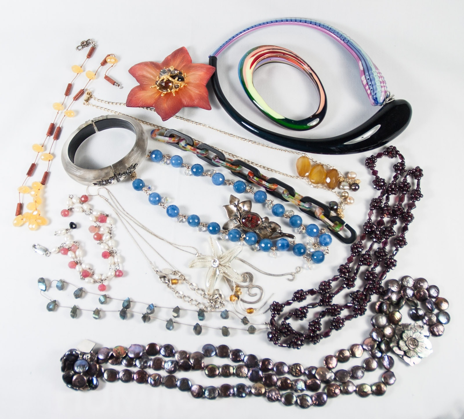 Assortment of Beaded Jewelry Featuring Alexis Bittar