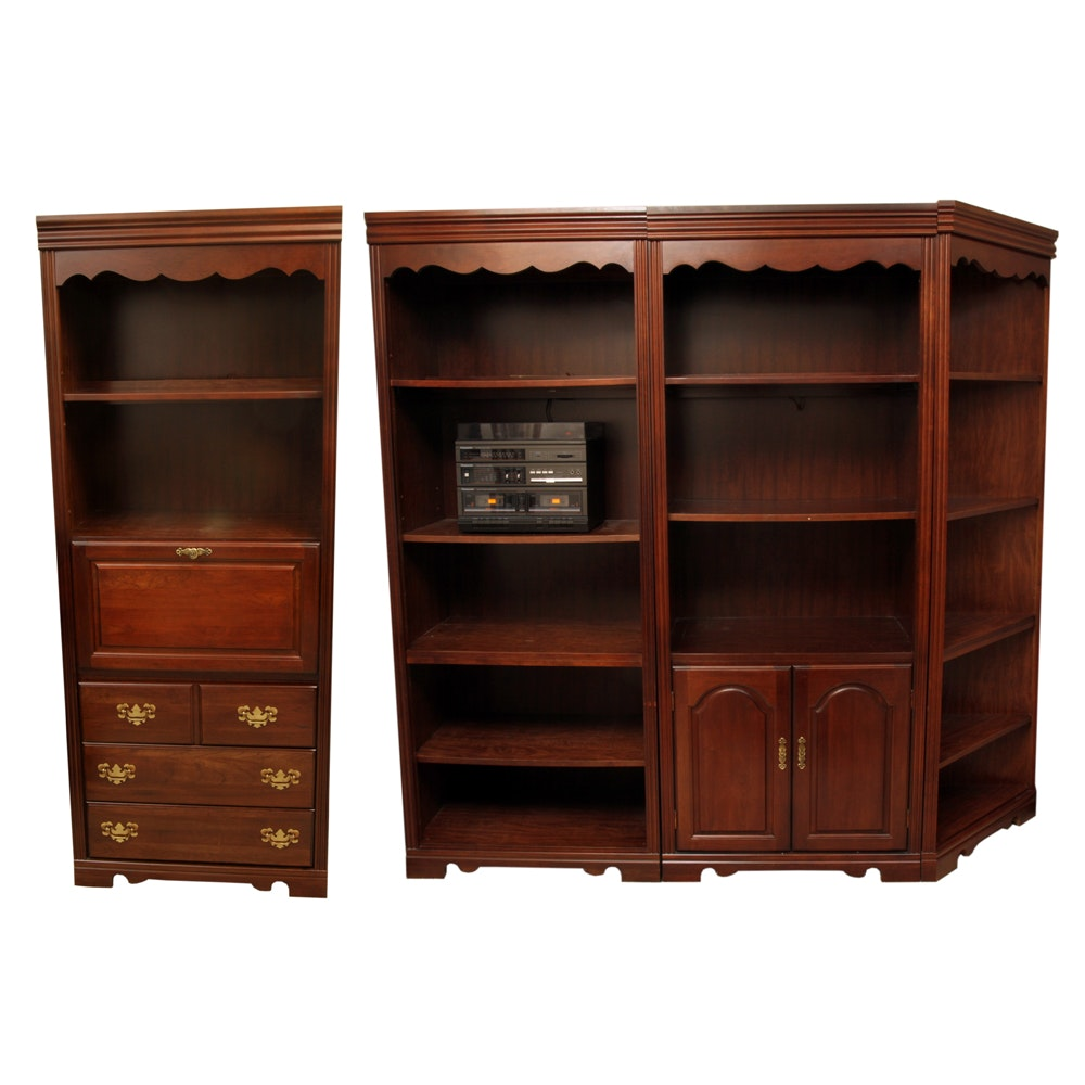 Broyhill Colonial Style Wall Units