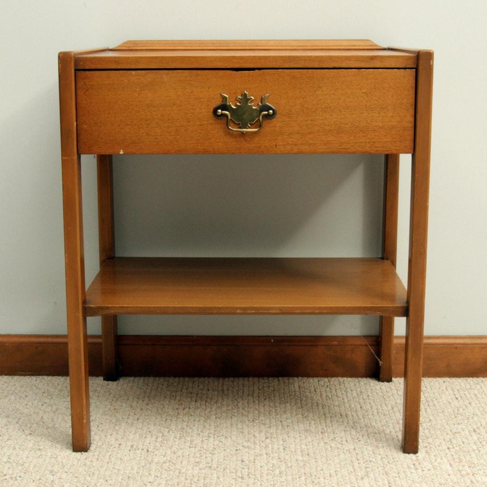 Good Wood Nightstand By Morganton Furniture.