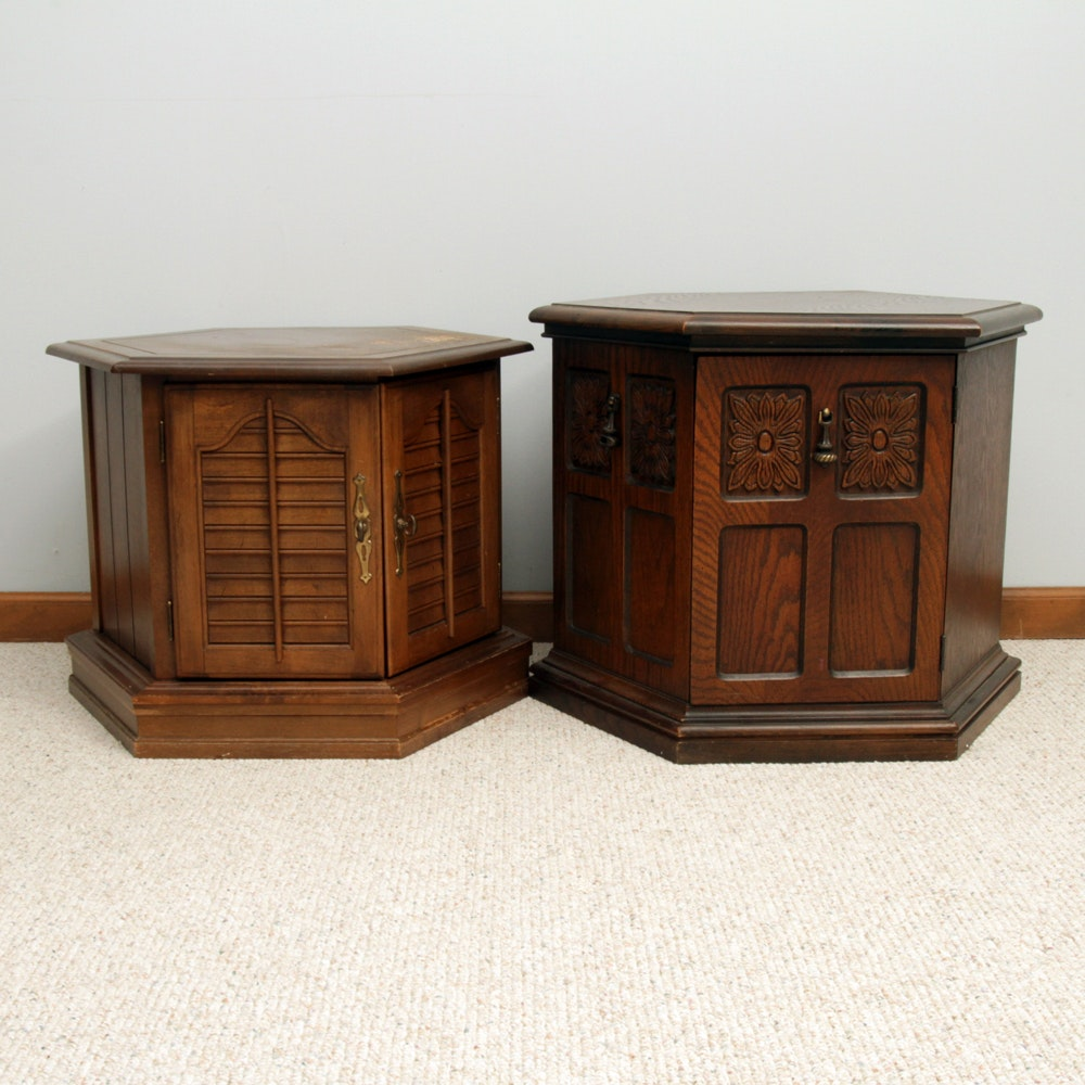 Pair of Vintage Mediterranean Style Side Tables